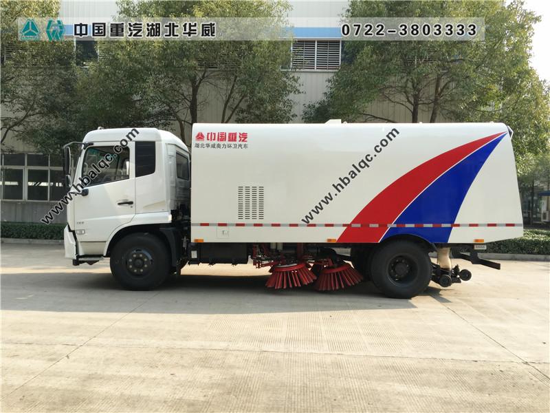 东风天锦国五天然气扫路车